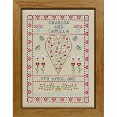 Swag & Heart Wedding Sampler Cross Stitch Kit