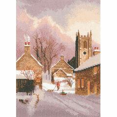 Snowy Village Cross Stitch Kit
