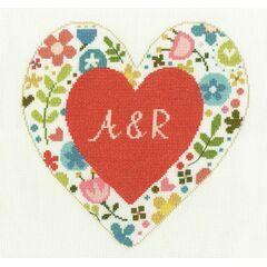Personalised Heart Cross Stitch Kit