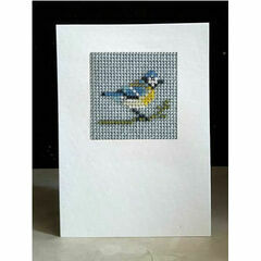 Blue Tit Mini Beadwork Embroidery Card Kit