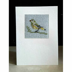 Greenfinch Mini Beadwork Embroidery Card Kit