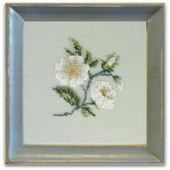 Rambling Briar Rose Beadwork Embroidery Linen Kit
