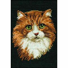Red Cat Cross Stitch Kit