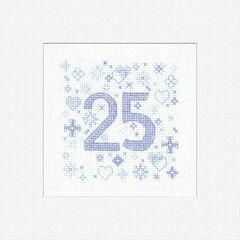 25th Celebration Cross Stitch Card Kit