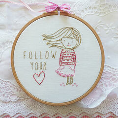 Follow Your Heart Embroidery Kit