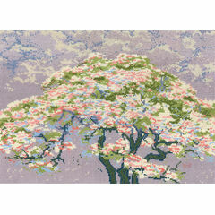 A Tree In Blossom Cross Stitch Kit