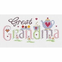 Great Grandma Cross Stitch Kit