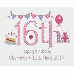 16th Birthday Cross Stitch Kit