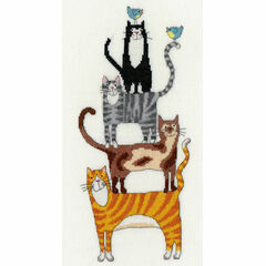 Cat Stack Cross Stitch Kit