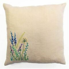 Wild Flowers Embroidery Cushion Kit