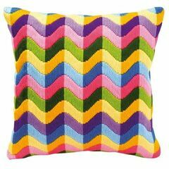 Bold Geometric Style 2 Long Stitch Cushion Panel Kit