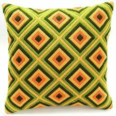 Bold Geometric Style 4 Long Stitch Cushion Panel Kit