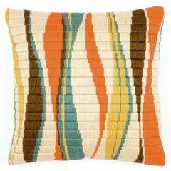 Wave Long Stitch Cushion Panel Kit