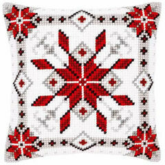 Snow Crystal 1 Chunky Cross Stitch Cushion Panel Kit