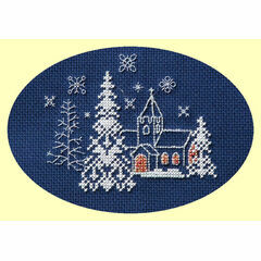 Let It Snow Cross Stitch Christmas Card Kit