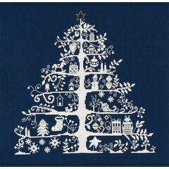 Christmas Tree Blue Cross Stitch Kit