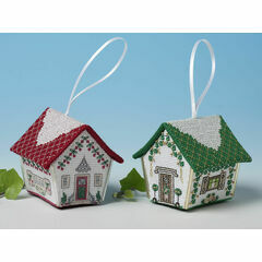Gingerbread House Duo (Christmas Rose & Cherry Tree) 3D Cross Stitch Kit