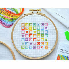 Beginners Squares - Learn How To Cross Stitch Complete Tutorial Kit