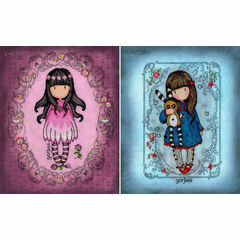 Set Of Two Gorjuss Cross Stitch Kits - Oops-A-Daisy & Hush Little Bunny