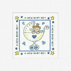 A New Baby Boy Cross Stitch Card Kit