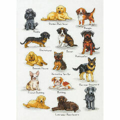 Dog Sampler Cross Stitch Kit