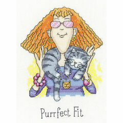 Purrfect Fit Cross Stitch Kit