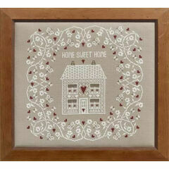White Home Sweet Home Cross Stitch Kit