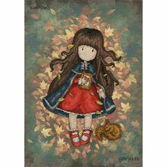 Gorjuss Autumn Leaves Cross Stitch Kit