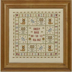 Four Foxes Birth Sampler Cross Stitch Kit