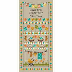 Baby Bunting Birth Sampler Cross Stitch Kit