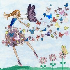 Butterfly Dance Cross Stitch Kit