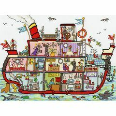 Cut Thru' Cruise Ship Cross Stitch Kit