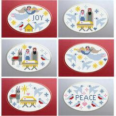 Nativity Cross Stitch Christmas Card Kits (Set of 6)