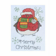 Albie Robin Cross Stitch Christmas Card Kit