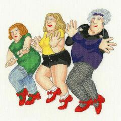 Dancing Class (Beryl Cook) Cross Stitch Kit