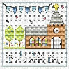 Christening Day Boy Cross Stitch Card Kit