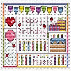 Birthday Delights Cross Stitch Card Kit