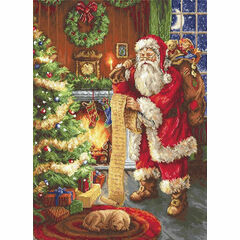 Santa's List Cross Stitch Kit
