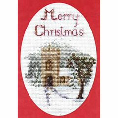 The Church Christmas Card Cross Stitch Kit