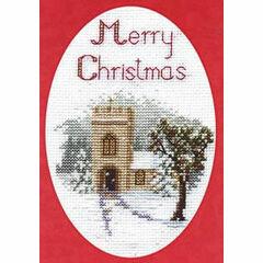 The Church Christmas Card Cross Stitch Kit
