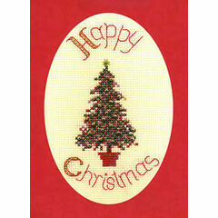 Festive Tree Christmas Cross Stitch Card Kit