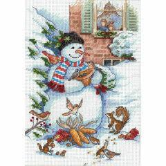 Snowman & Friends Cross Stitch Kit