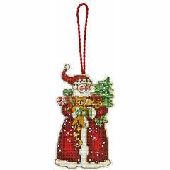 Santa Ornament Cross Stitch Kit