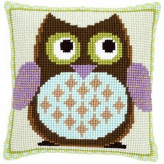 Mister Owl Chunky Cross Stitch Cushion Front Kit