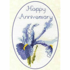 Iris Cross Stitch Card Kit