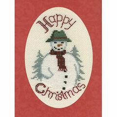 Snowman Christmas Card Cross Stitch Kit