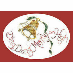 Ding Dong Merrily Christmas Cross Stitch Card Kit