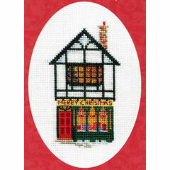 Christmas Shop Cross Stitch Card Kit