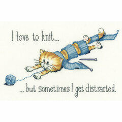 Distracted Cross Stitch Kit