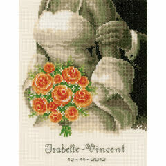 The Bouquet Wedding Sampler Cross Stitch Kit